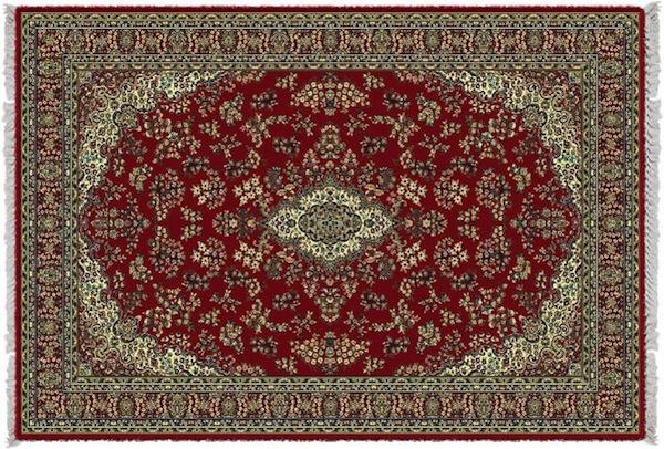 REF.412 - Tapete Belga Harmony Fundo Vermelho 2.40x3.40cm