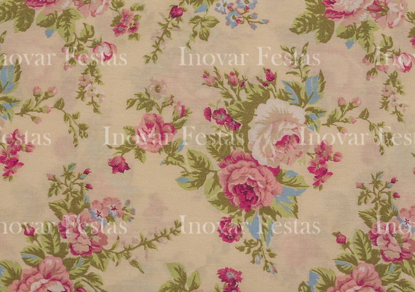 REF.241 - Almofada Floral Tricoline