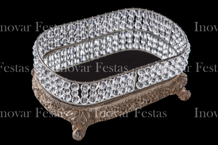 Doceira Resina Strauss Cristal Oval Cor Madeira