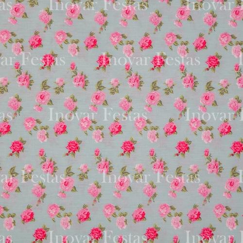 REF.54 - Cobre Mancha Floral Verde Tricoline
