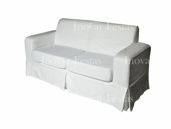 Sofá Branco 3 Lugares